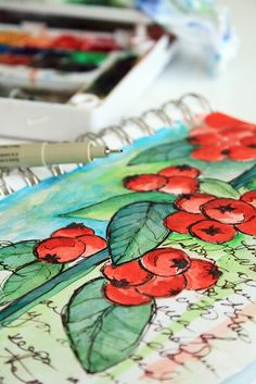 alisaburke: a peek inside my sketchbook- working through inspiration & ideas
