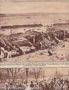 SERBIAN TRENCH SYSTEMS & CITIZEN SOLDIERS WWI 1920s NEWS PHOTO POSTER PRINT