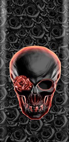 Skull Wallpaper, Dark Wallpaper, Wallpaper Backgrounds, Phone Backgrounds, Iphone Wallpapers, Skull