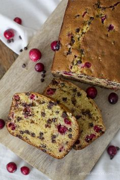 Cranberry Orange Chocolate Chip Bread ...yum!