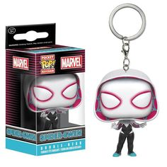 This is the Funko Marvel Pocket POP Spider-Gwen Vinyl Figure Keychain. Spider-Gwen is extremely popular and it's great to see her in Funko Pocket POP style! Awe