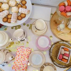 sweets & tea at our event! #macarons #teaparty photo by @Jenny @ Crazy Style Love