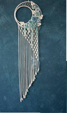 Moonlight macrame Wall Hanging /Home Tapestry/wedding Bohemian background/Dip dyed Cotton Tapestry/pingk- Macrame Plant Hanger Patterns, Macrame Wall Hanging Patterns, Macrame Plant Hangers, Macrame Patterns, Macrame Design, Macrame Art, Macrame Projects, Macrame Knots, Dream Catcher Craft