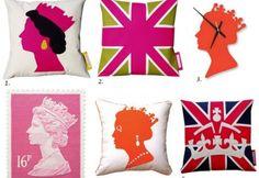Queen's Jubilee Inspired Pillows