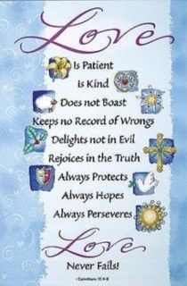 1 Corinthians 13:4 Scripture Banner 2007 Mark Bowers Canvas 2 x 3' H