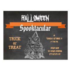 #Rustic Chalkboard Halloween Spooktacular Postcard - #halloween #party #stuff #allhalloween All Hallows' Eve All Saints' Eve #Kids & #Adaults