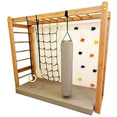 Cool Kids Bedrooms, Kids Bedroom Designs, Playroom Design, Kids Room Design, Kids Indoor Gym, Indoor Playroom, Indoor Climbing Wall, Kids Climbing, Kids Basement