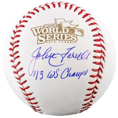 John Farrell Boston Red Sox Fanatics Authentic Autographed 2013 World Series Baseball with 13 WS Champs Inscription
