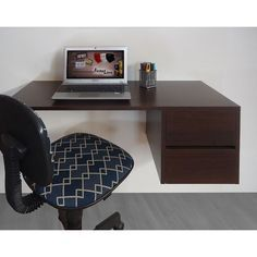 Escrivaninha Suspensa Mesa para Computador ou Notebook - Tabaco