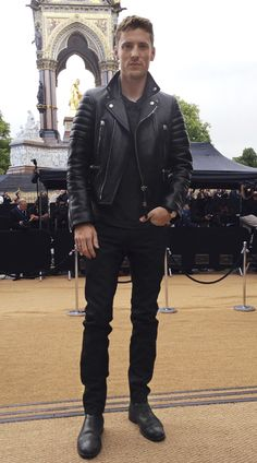 Brit Rhythm campaign star George Barnett at the Burberry S/S14 show in Kensington Gardens - shot with #iPhone5s