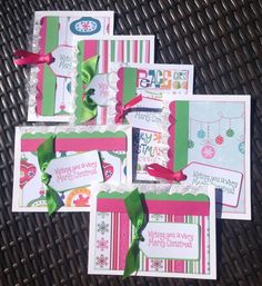 A personal favorite from my Etsy shop https://www.etsy.com/listing/244340499/cute-handmade-christmas-cards-pink-green
