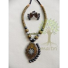 Terracotta Jewellery_Dull Gold StatementTerracotta  https://www.facebook.com/maitricrafts.maitri https://www.facebook.com/maitri.crafts maitri_crafts@yahoo.com