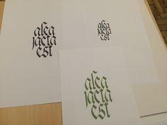 Calligraphy exercises — Faculdade Belas Artes, Universidade de Lisboa, Portugal.