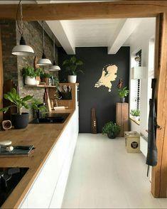 Best kitchen tiles black and white butcher blocks Ideas Black Kitchen Black Blocks Butcher Ideas Kitchen tiles White Küchen Design, House Design, Interior Design, Design Ideas, Stone Interior, Interior Colour Schemes, Wood Design, Interior Ideas, Color Schemes