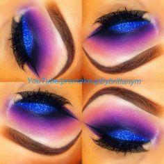 Vivid Glittery Blue Eyeshadow