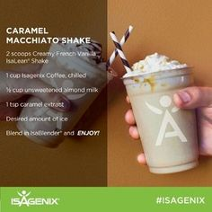 Summertime is fast approaching, and here at Isagenix World Headquarters, we're starting to feel the summer heat. A warm cup of Isagenix Coffee can be enjoyed all yearlong, but if you're looking for some chilly alternatives that will help cool you off this summer, try our Isagenix Coffee Cafe Mocha and Caramel Macchiato Shakes!
