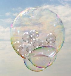 bubbles in bubbles