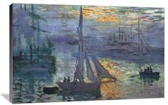 Sunrise at Sea (Sunrise at Sea  - Claude Oscar Monet (1840 - 1926) was a founder of French impressionist painting)