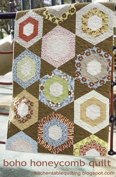 Moda Bake Shop: Boho Honeycomb Quilt by Erica Jackman