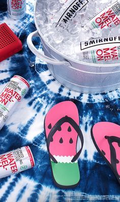 Beat that summer heat. Great for when you're on the go, nothing says party like an ice-cold cooler of our 90 calorie Watermelon Smirnoff Spiked Sparkling Seltzers. To find where to buy Smirnoff Spiked Sparkling Seltzer, visit http://www.smirnoff.com/en-us/where-to-buy/