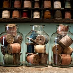 French bobbins with original cottons | quintessential duckeggBLUE