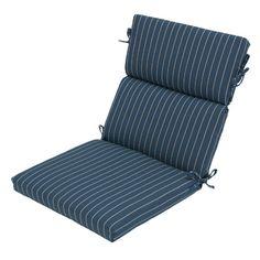 Found it at Wayfair - Ticking Stripe Outdoor Dining Chair Cushion