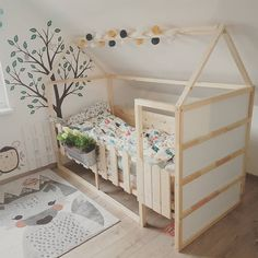 19 Ikea Kura Bed Hacks your Kids will Love - james and catrin Ikea have created a wonderful toddlers bed that is perfect for customising in whatever way you like. You can hack the Ikea KURA bed to . Kura Bed Hack, Ikea Kura Hack, Ikea Hacks, Ikea Bedroom, Girls Bedroom, Bedroom Decor, Bed Ikea, Bedroom Furniture, Luxury Furniture