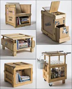 Hacer muebles con cajas de embalaje #reciclar #muebles