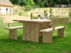 Gartenmoebel aus Eiche1 Outdoor Furniture Sets, Outdoor Decor, Google, Home Decor, Oak Tree, Homemade Home Decor, Decoration Home, Interior Decorating, Outdoor Furniture