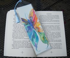New #Butterfly painted #bookmarks by ColorfulWatercolors
