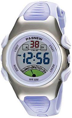 35121b54a97 TOPCABIN Fashion Waterproof Children Boys Girls Digital Sport Watch with  Alarm Chronograph Date Purple  gt