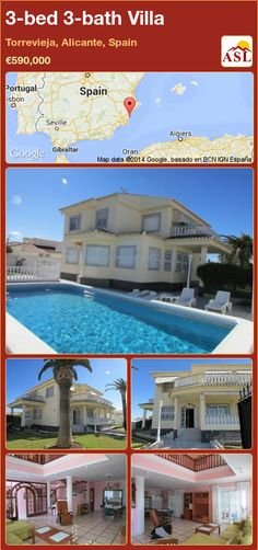 3-bed 3-bath Villa in Torrevieja, Alicante, Spain ►€590,000 #PropertyForSaleInSpain