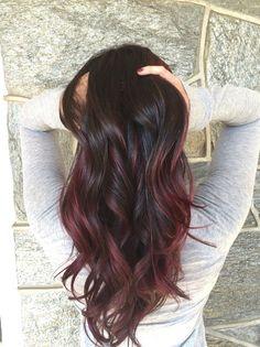 Red balayage #hairbylima #jairassalon