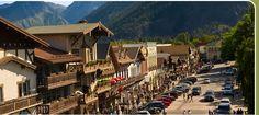 Bavarian Village in the mountains of Washington