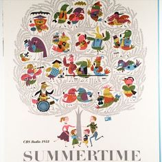 """Summertime, CBS Radio programming media kit cover, art directed by Lou Dorfsman, 1953"" by lubalincenter"