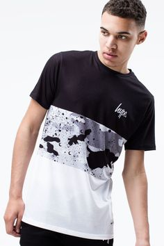 HYPE MONOTONE CAMO PANEL T-SHIRT Hype Clothing, Mens Clothing Styles, Black Friday Deals, New T, Men's Collection, Mens Tees, Zara, Menswear, Unisex