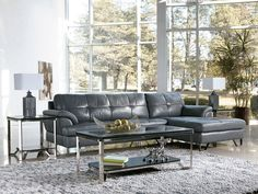 BALBOA - 2pcs MODERN GENUINE LEATHER SOFA COUCH CHAISE SECTIONAL SET LIVING ROOM