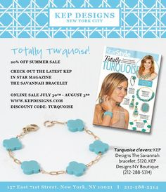 KEP Designs, Totally Turquoise