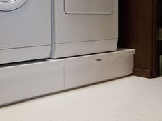 IKEA hack under washer/drier storage drawers