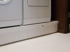 IKEA hack under washer/drier storage drawers