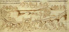 Carolingian, detail of folio 25 recto of Utrecht Psalter
