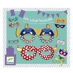 Djeco Partybrillen Kindermasken Les Loup Foques - Bonuspunkte sammeln, Rechnungskauf, DHL Blitzliieferung!