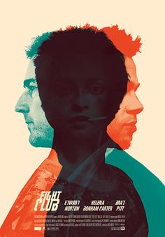 #FightClub #1999 #MichalKrasnopolski #BradPitt #cinema #movie #action #illustration #film #poster #amusementphile