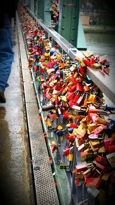 Love locks, Frankfurt Germany