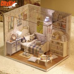 Cheap Wooden Miniatures, Buy Quality House Furniture Directly From China  Miniature Dolls House Furniture Suppliers: Diy Wooden Miniature Doll House  ...