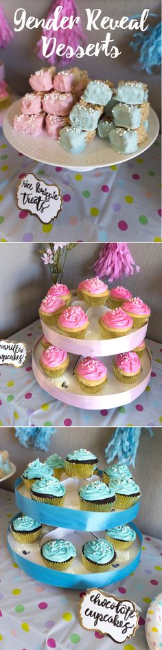 Gender Reveal Party   Decorations   Dessert Table   Dessert Bar   Colored Cupcakes   Pregnancy Inspiration   Baby Shower Ideas   Gender Reveal Sweets   Blue or Pink   Gold Decorations   Gender Reveal Voting   Gender Reveal Games   Gender Reveal Free Printable PDF   Gender Reveal Baby Name Race   Gender Reveal Snacks   Baby Shower Desserts, Baby Shower Cupcakes, Fun Cupcakes, Colored Cupcakes, Gold Dessert Table, Dessert Bars, Shower Party, Baby Shower Parties, Gender Reveal Party Decorations