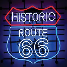 Historic Route 66 Neon Sign (for your bar)  $289.95