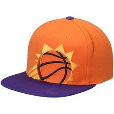 9bb3976ef Men s Mitchell   Ness Orange Purple Phoenix Suns Cropped XL Logo Adjustable Snapback  Hat