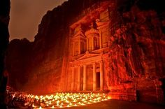 Petra by Night. The Treasury, Al Khazneh Photo by Nora de Angelli -- National Geographic Your Shot National Geographic Photo Contest, Places To Travel, Places To Visit, City Of Petra, Rose City, Pilgrimage, Where To Go, Wonders Of The World, Family Travel
