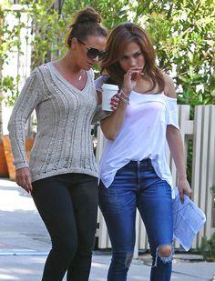 Starbucks ~ Leah Remini and Jennifer Lopez